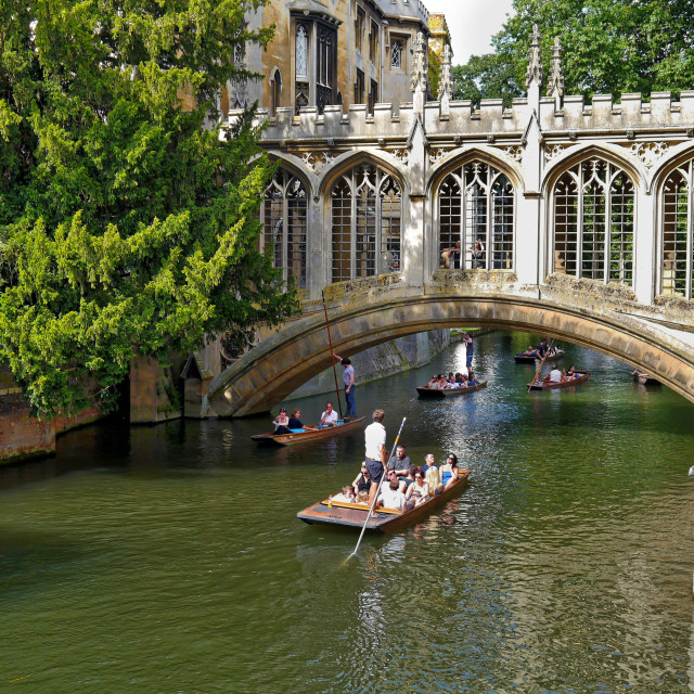 """The Bridge of Sighs, Cambridge"" stock image"
