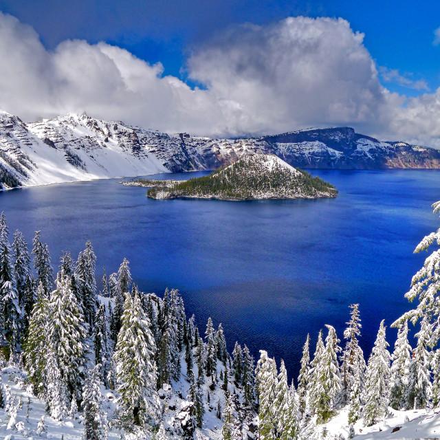 """Crater Lake, Oregon"" stock image"