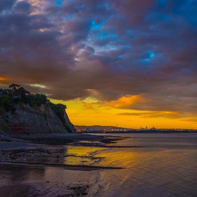 """Cardiff cliffs"" stock image"