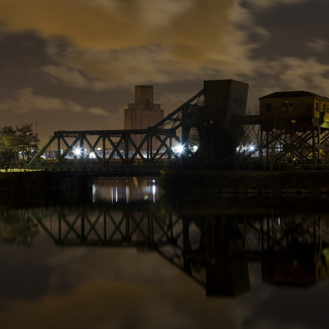 """Egerton Bascule Bridge"" stock image"