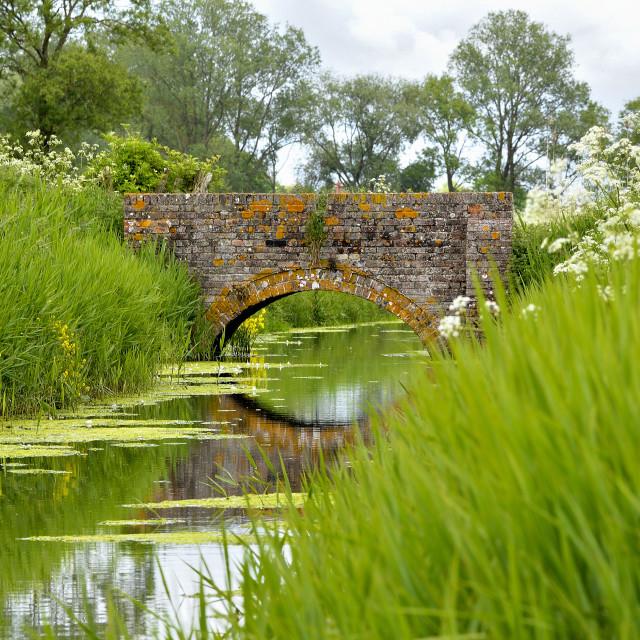 """An old brick bridge"" stock image"