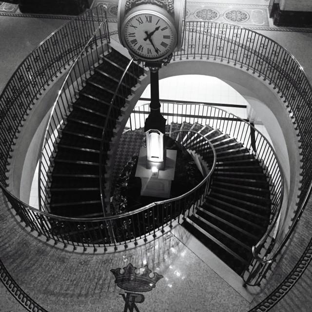 """""""1:25 Royal York In Black & White"""" stock image"""