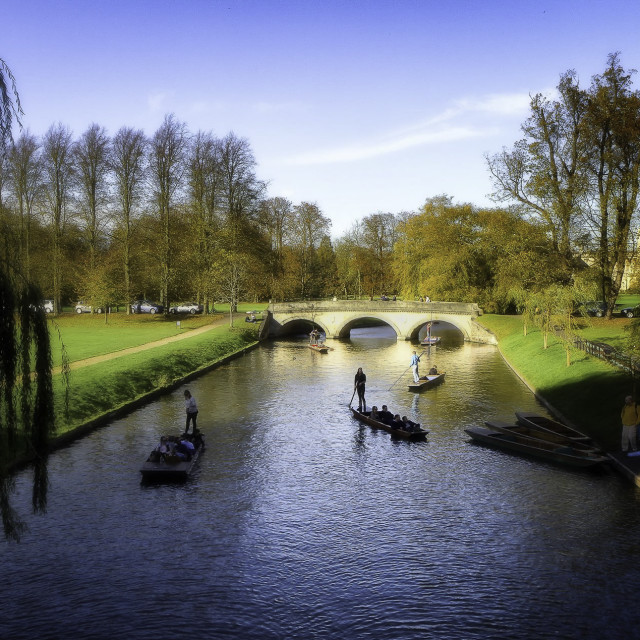 """Punting at Cambridge"" stock image"