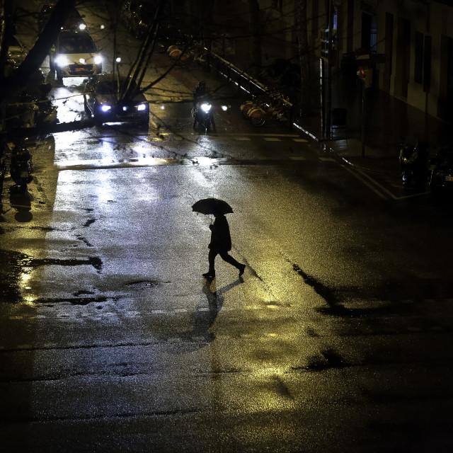 """Rainy Evening"" stock image"