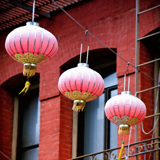 """San Francisco's Chinatown lanterns"" stock image"