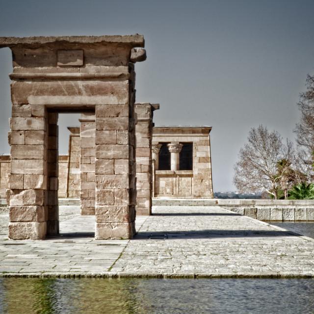 """Templo de Debod, Madrid"" stock image"