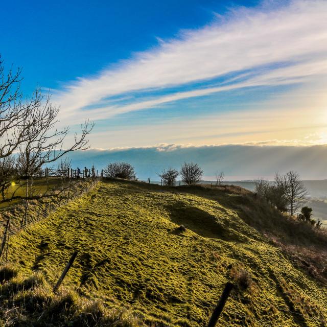 """Coakley Peak Sunset"" stock image"