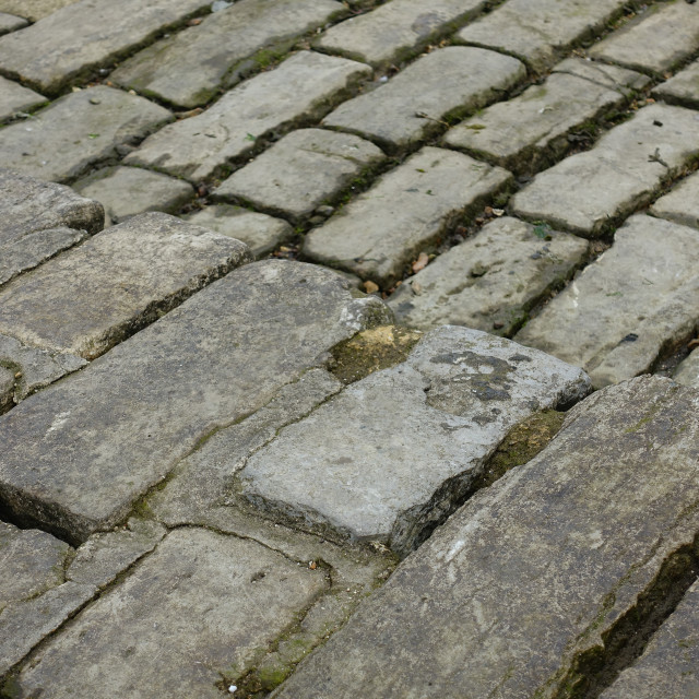 """Cobbled pavement"" stock image"