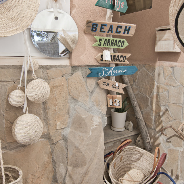 """""""Merchandise in souvenir shop"""" stock image"""