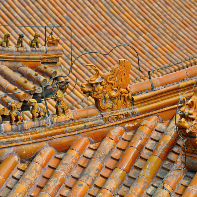 """Chinese Roof Abstract"" stock image"