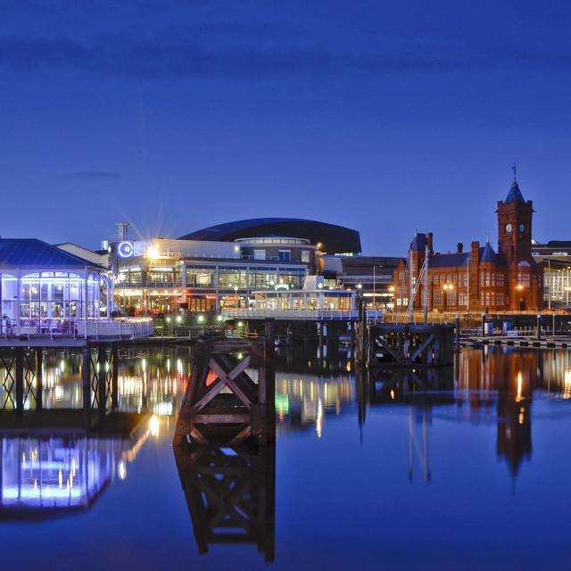 """""""Cardiff Bay Twilight"""" stock image"""
