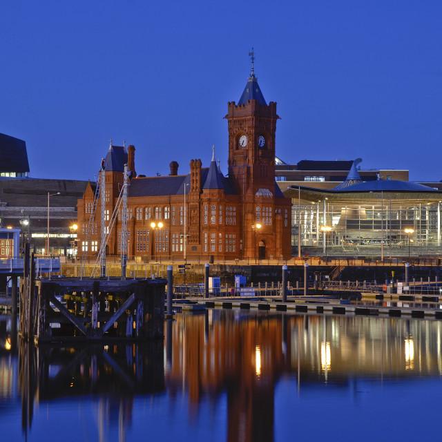 """Pierhead bulding Cardiff Bay"" stock image"