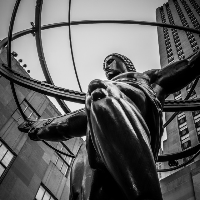 """Atlas, New York City"" stock image"