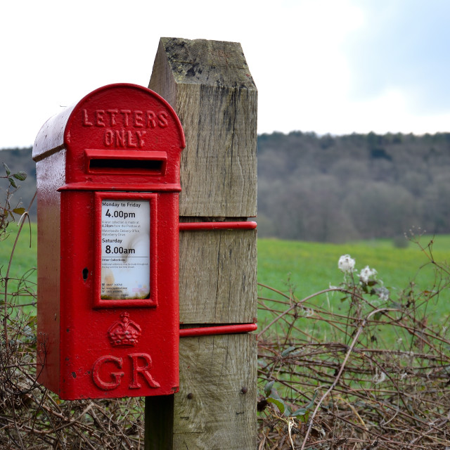 """""""The old letter box"""" stock image"""