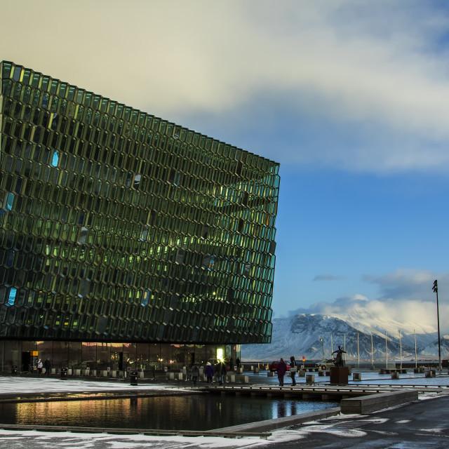 """""""Harpa (concert hall), Reykjavik"""" stock image"""
