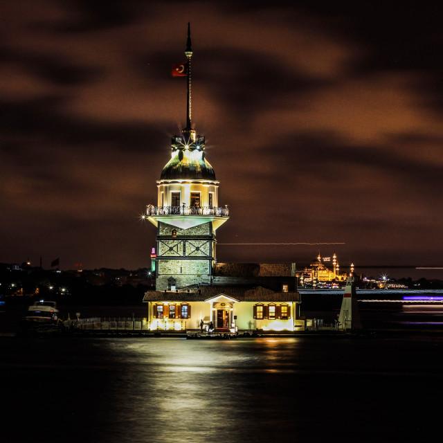 """Kiz kulesi at night #2"" stock image"