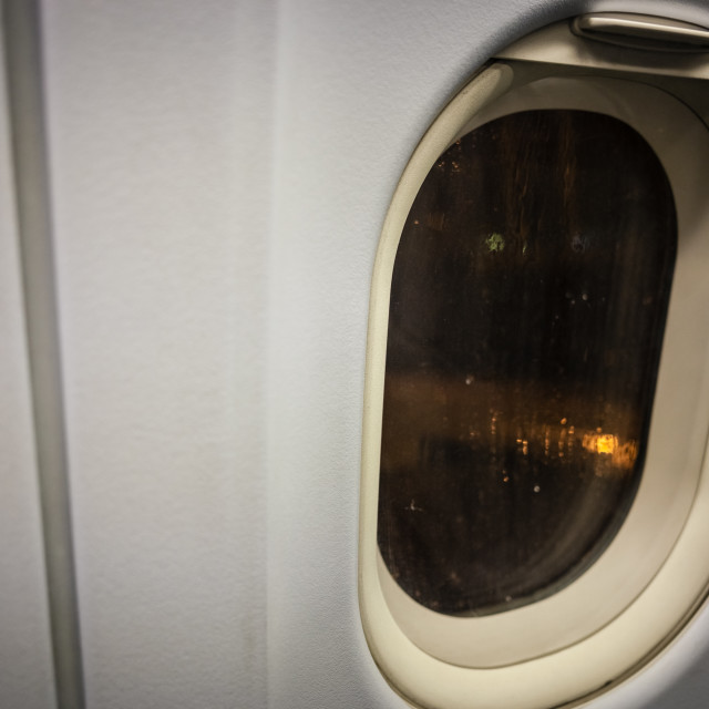 """Rainy night at the airport"" stock image"