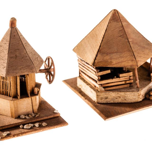 """Wooden dwelling"" stock image"