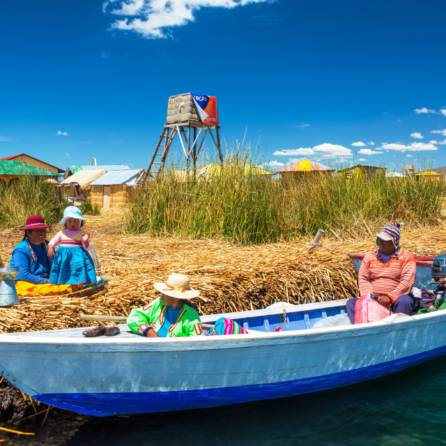 """Uros Islands Families"" stock image"