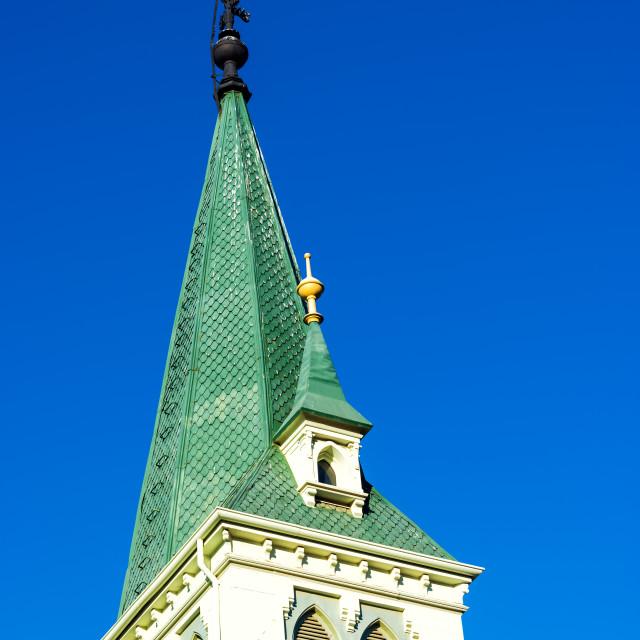 """Green Lutheran Church"" stock image"