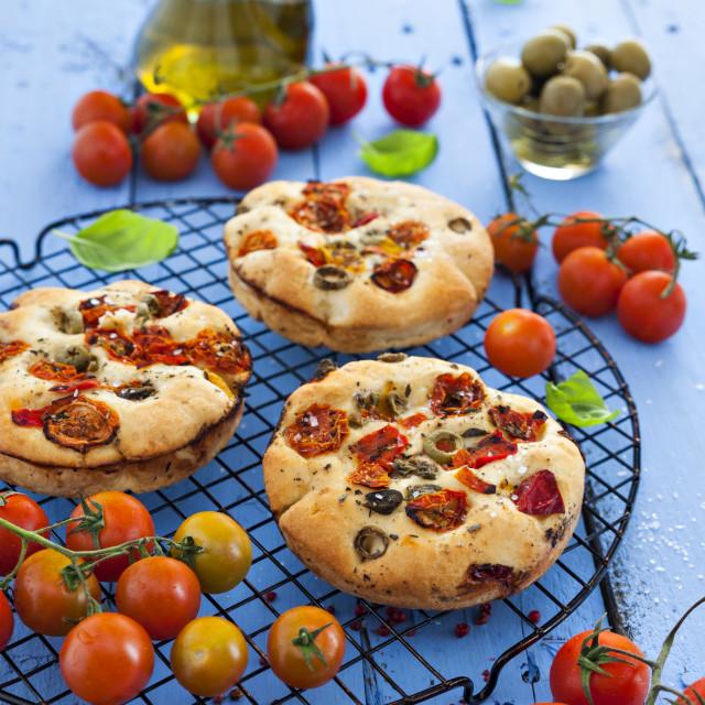 """""""Focaccia bread"""" stock image"""