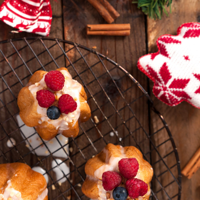 """Christmas dessert"" stock image"