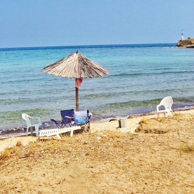 """umbrella in the beach"" stock image"