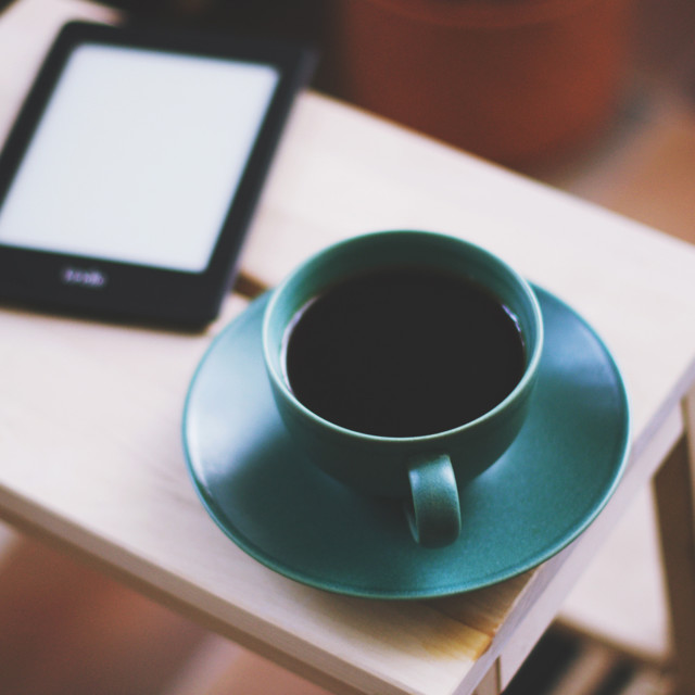 """""""Coffee and Book"""" stock image"""