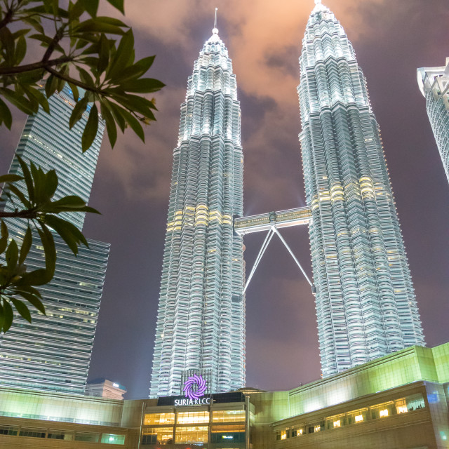 """""""Petronas Twin Towers, KLCC"""" stock image"""