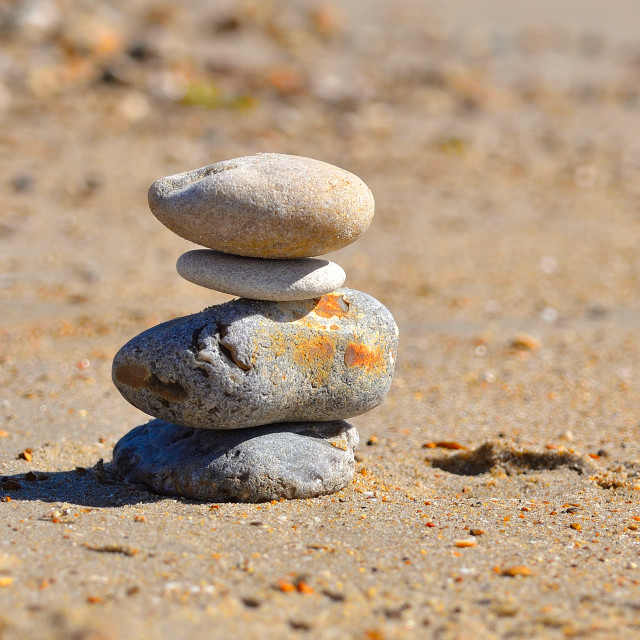 """""""A stack of pebbles"""" stock image"""