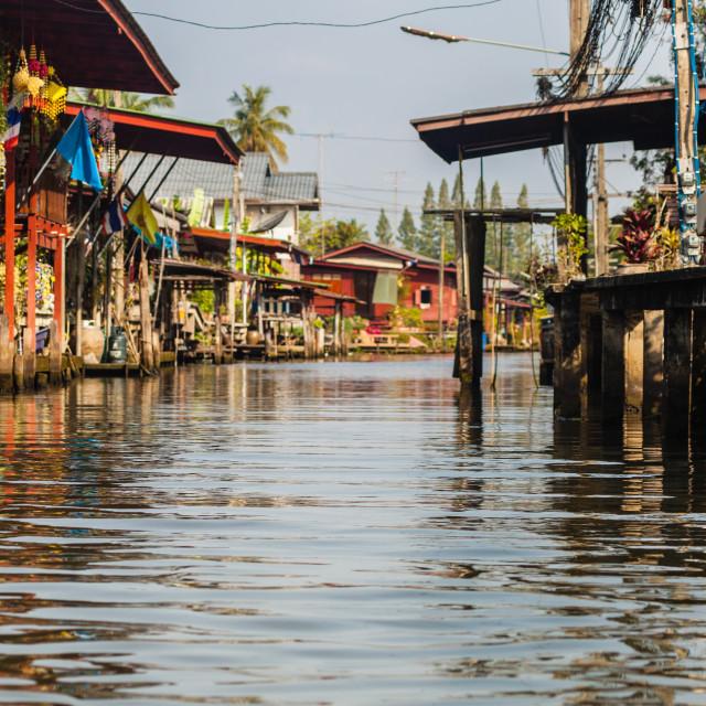 """Damnoen Saduak canal"" stock image"