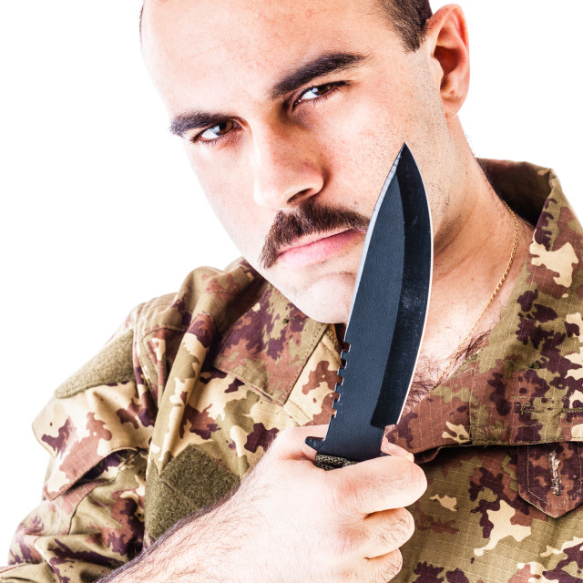 """""""Soldier with blade"""" stock image"""