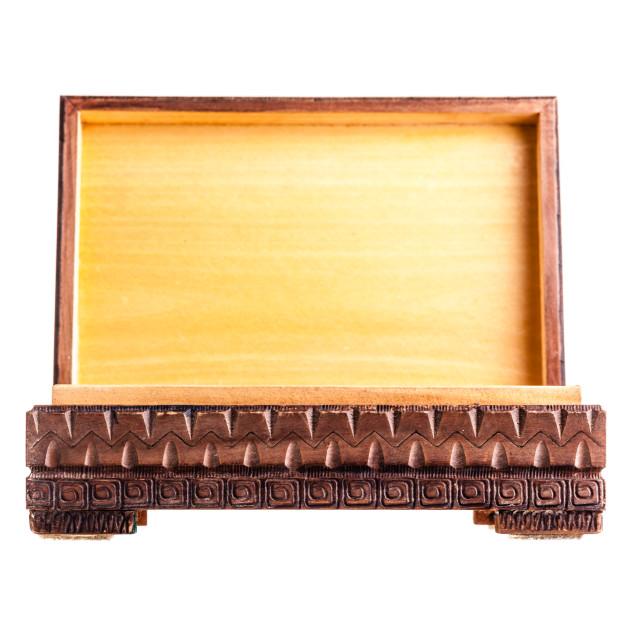 """Open Bulgarian box"" stock image"