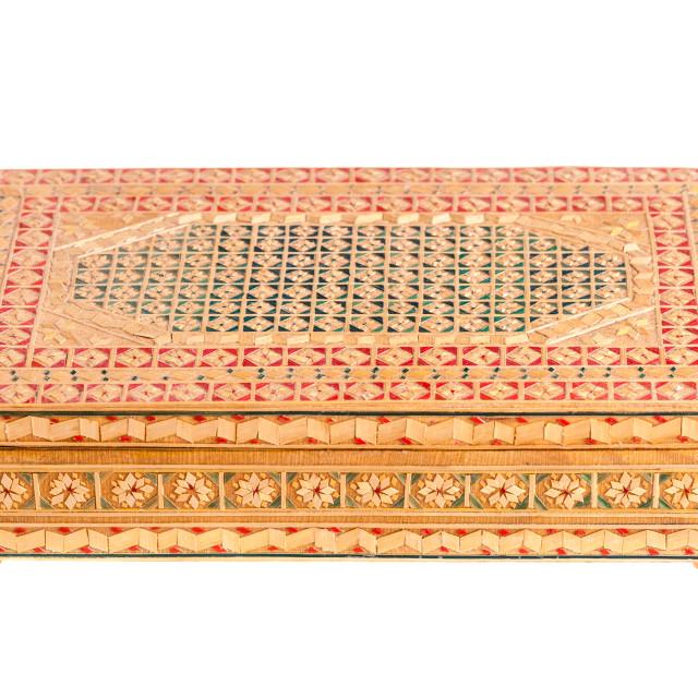"""Wooden Bulgarian box"" stock image"