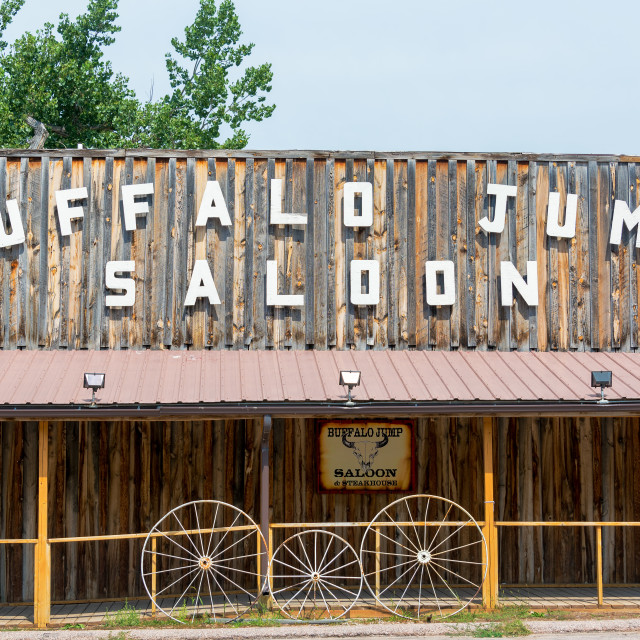 """Buffalo Jump Saloon"" stock image"