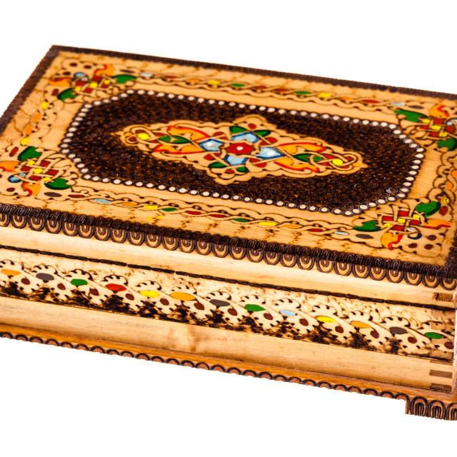 """""""Beautiful wooden box"""" stock image"""