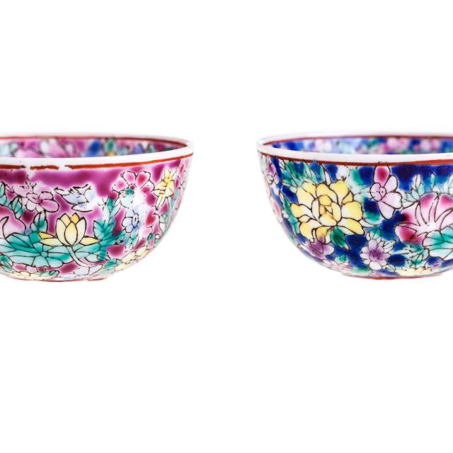 """Chinese bowls"" stock image"
