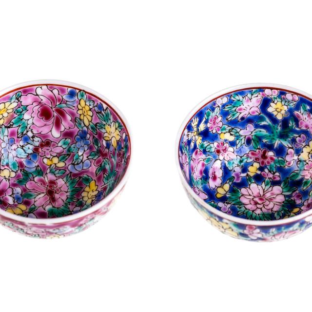 """Chinese rice bowls"" stock image"