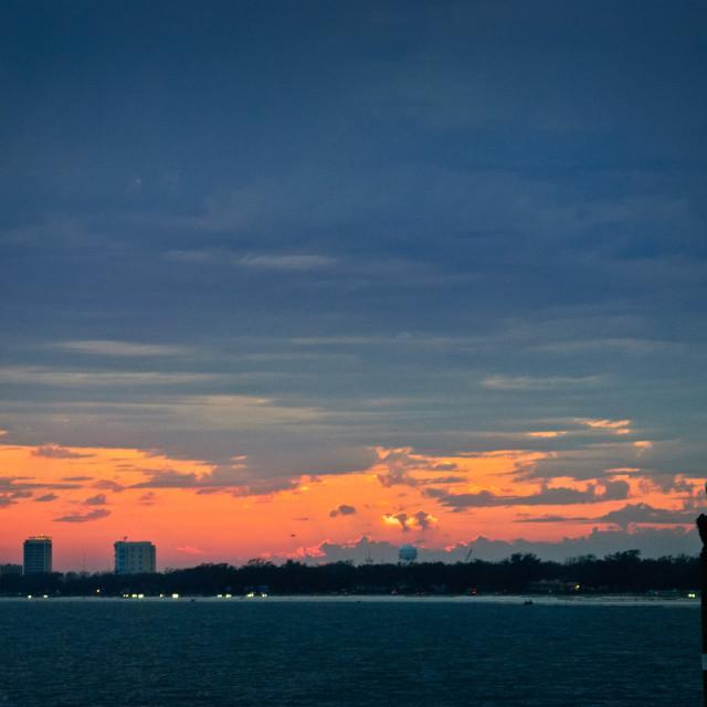 """""""Mississippi Coast Sunset"""" stock image"""