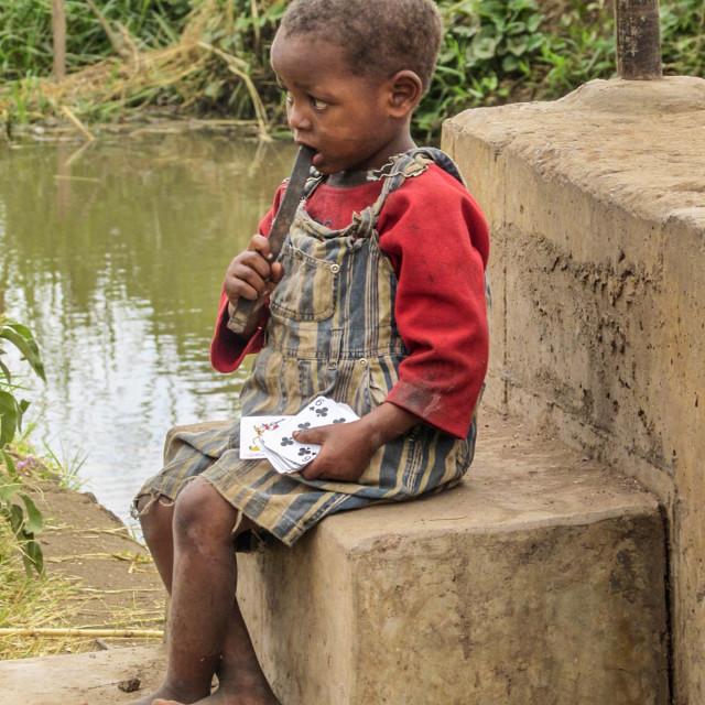 """Village life, Tanzania."" stock image"