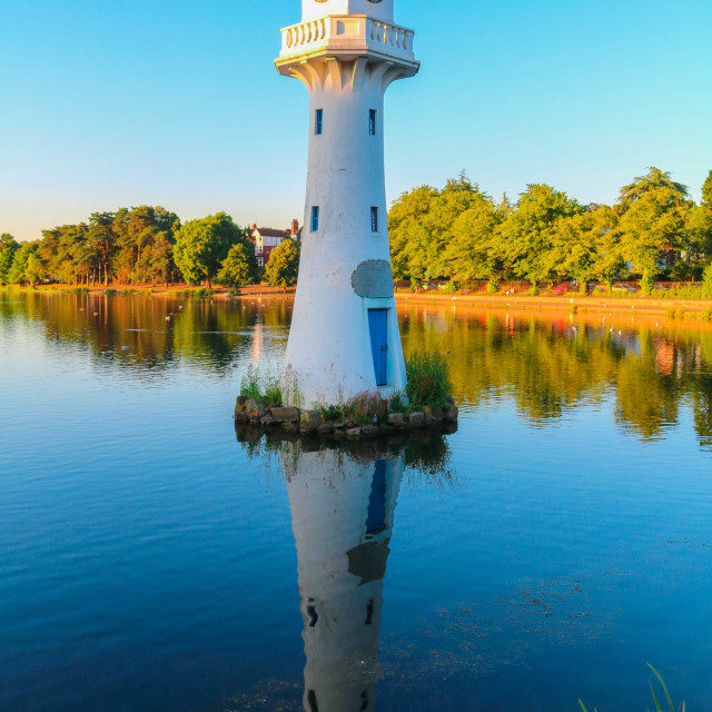 """""""Summer reflections - Roath Park"""" stock image"""