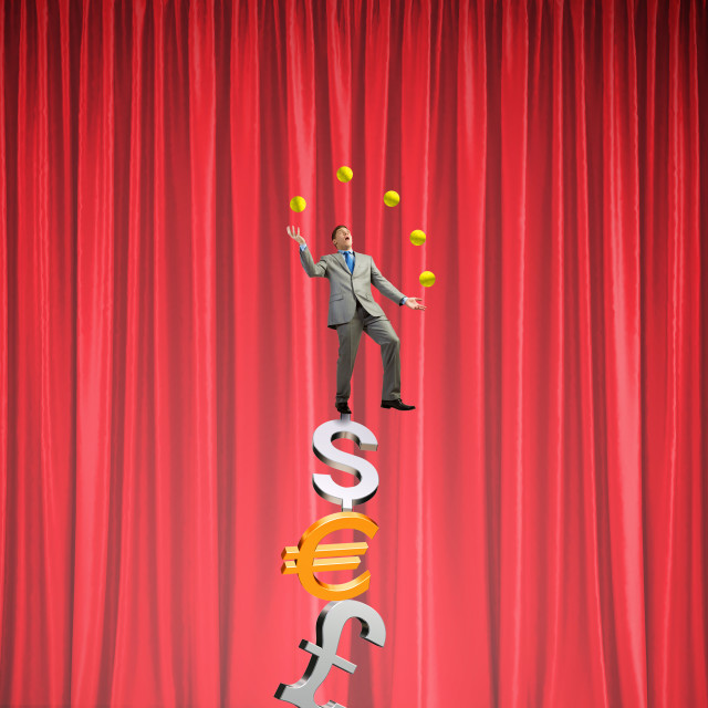 """Businessman juggling with balls"" stock image"