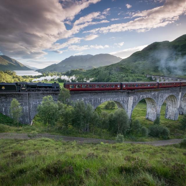 """Glenfinnan - Viaduct"" stock image"
