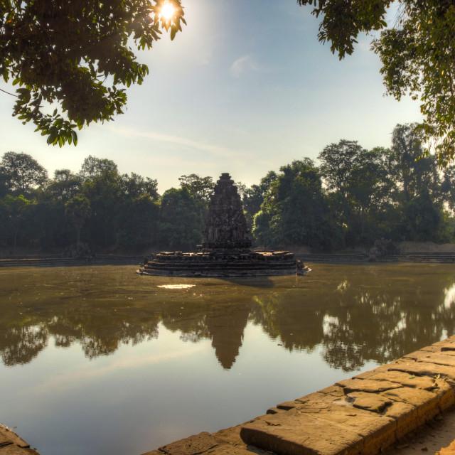 """Neak Pean temple, Angkor Wat Siem Reap, Cambodia"" stock image"