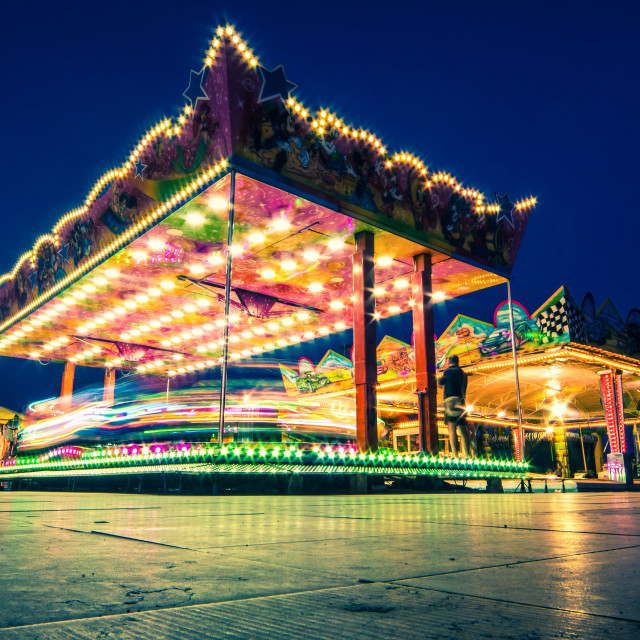 """Merry-go-round Long Exposed"" stock image"