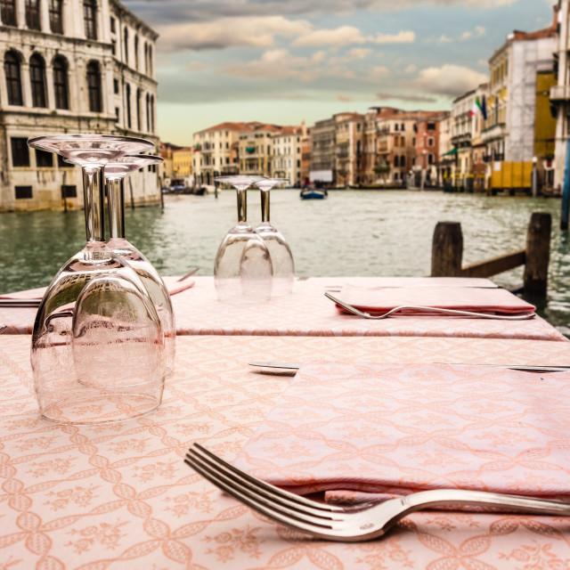 """""""Dinner in Venice"""" stock image"""