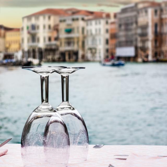 """""""Venetian dinner"""" stock image"""