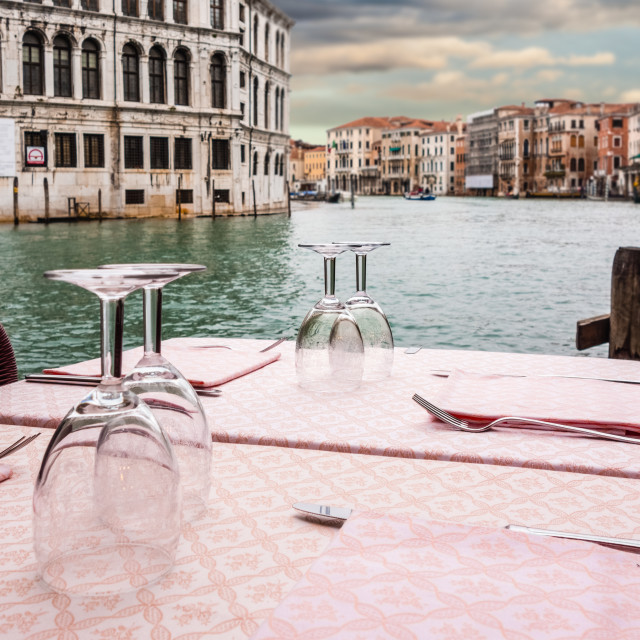 """Venetian restaurant"" stock image"