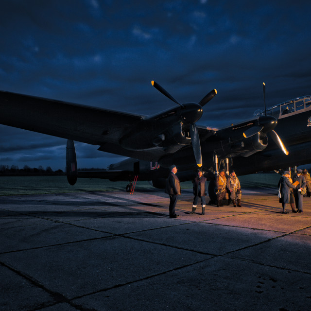"""Lancaster at Night"" stock image"