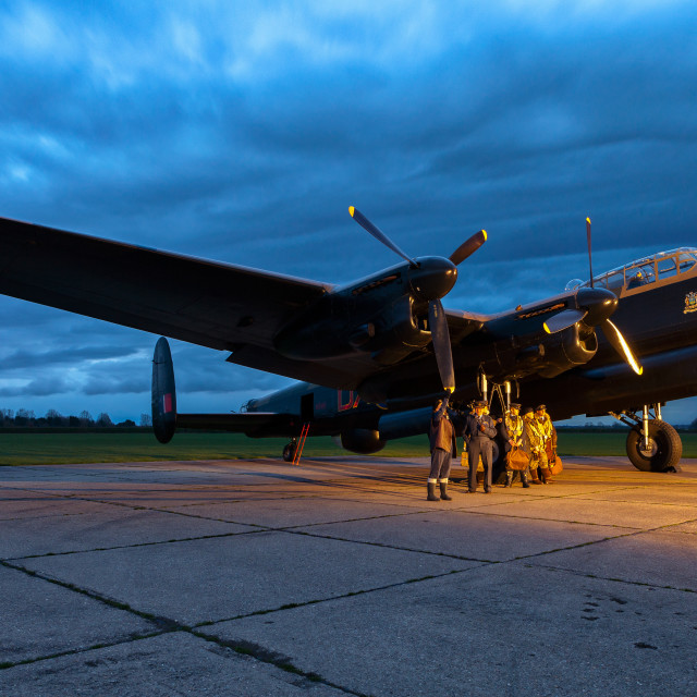 """Lancaster at Dusk"" stock image"